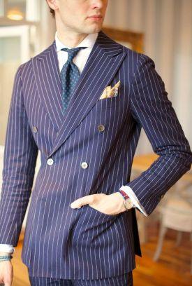The Pinstriped Suit 1920 style men