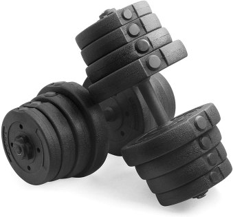 YAHEETECH Adjustable 66.14LB Dumbbell Weight Set Barbell Lifting