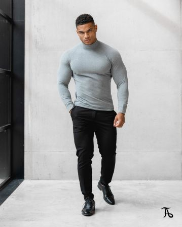 athletic turtle neck mens fashion clothing style