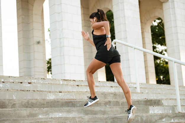 stair running HIIT workout
