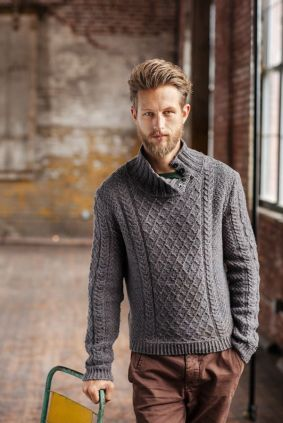 turtle neck designed sweater trends for men