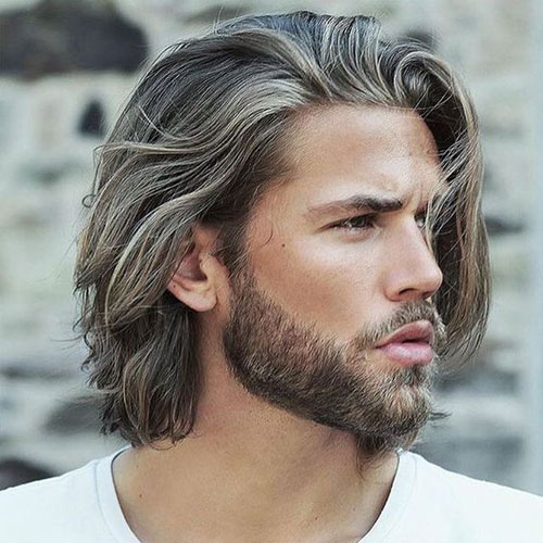 handsome long hairstyle men