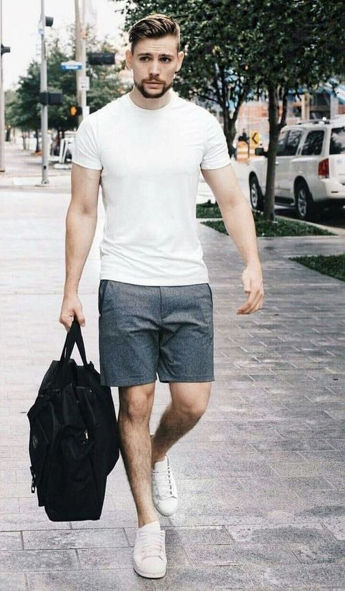 summer style outfit men short sleeve hanley fashion 2021 shorts