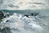 Boat on a Stormy Sea