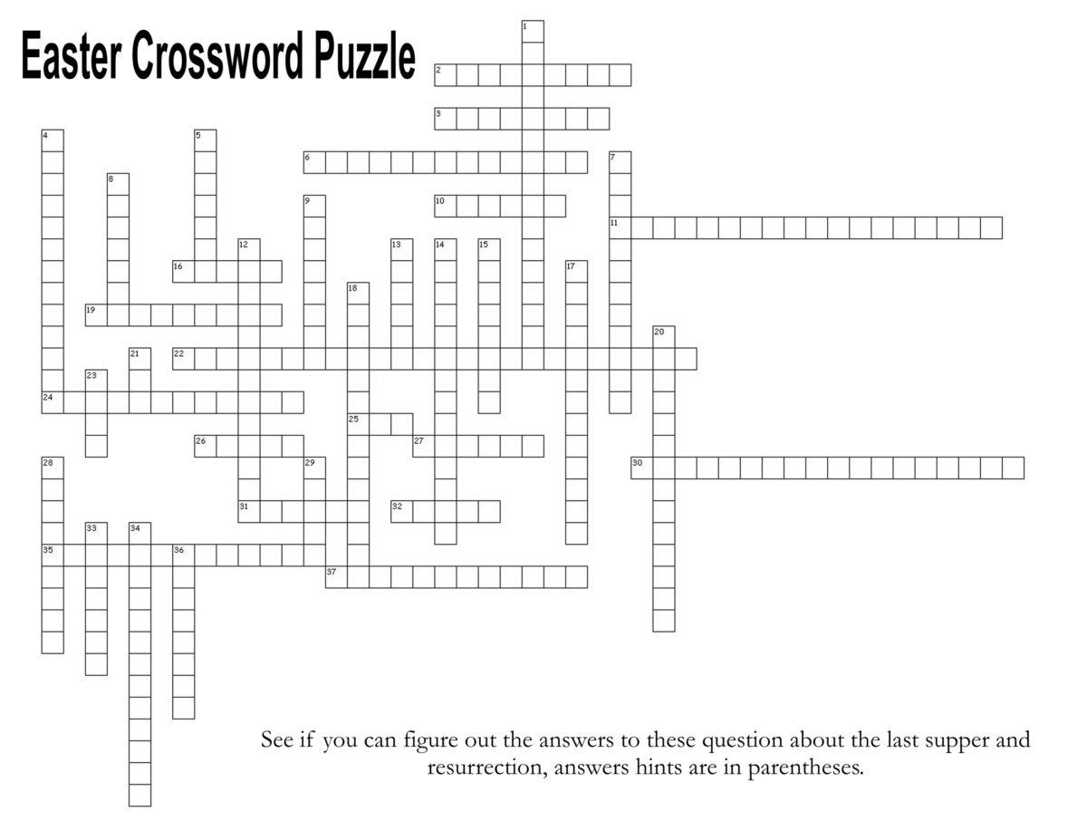 Last Supper And Resurrection Easter Crossword Puzzle The Idea Door
