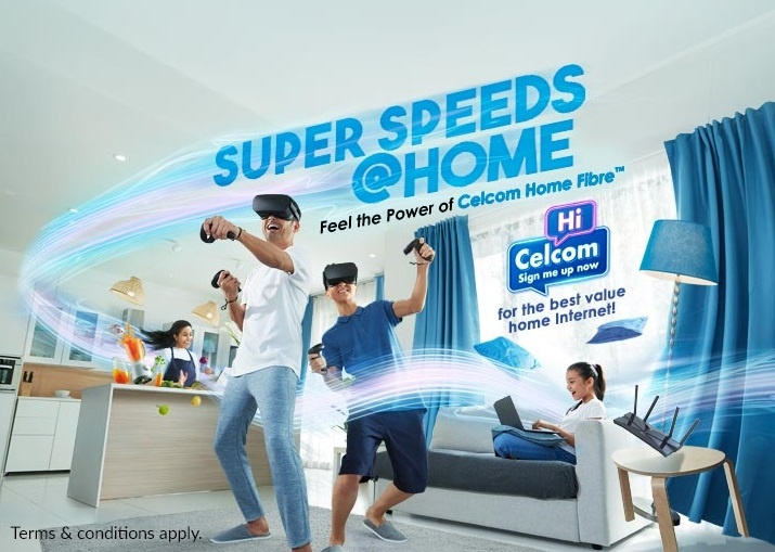 Celcom Offers Up to 500Mbps Home Fibre Plan for RM 179