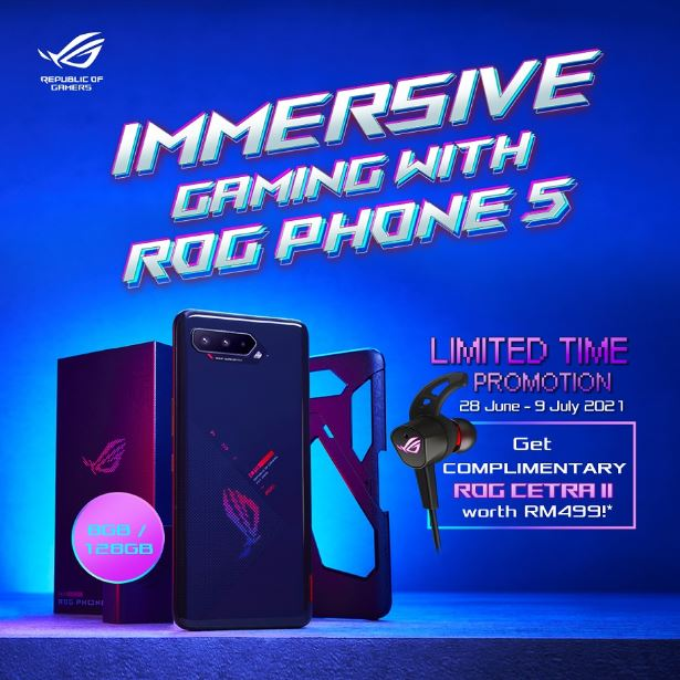 Get FREE ROG Cetra II with Purchase of ASUS ROG Phone 5