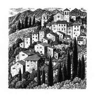 Sue Scullard, An Italian Hill Town © Sue Scullard