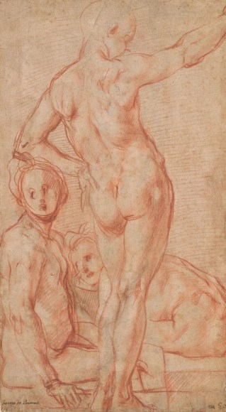 Jacopo Pontormo, Three male nudes, Morgan Library