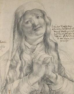 Grunewald, An Elderly Woman, Ashmolean, Oxford (detail)