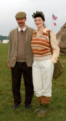 A land girl and her beau from the 1940s