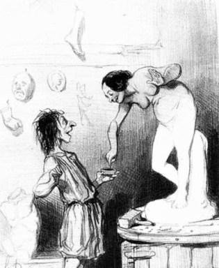 Honoré Daumier, Pygmalion and Galatea, lithograph