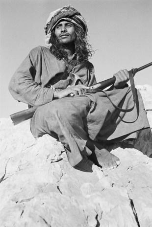 Salim bin Ghabaisha, 1950. Photo by Thesiger.