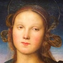 Perugino, Madonna and Child with the infant Baptist (detail)