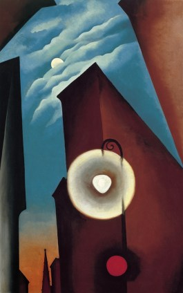 Georgia O'Keeffe, New York Street with Moon, 1925, Carmen Thyssen-Bornemisza Collection © Georgia O'Keeffe