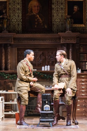 Claudio and Benedick (Edward Bennett). This is from an earlier production: note Bennett's moustache.