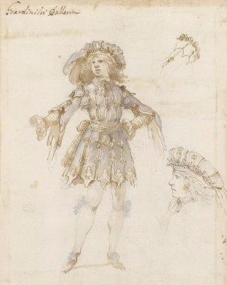 Stefano della Bella, Ballet costume for a Gardener in Hipermestra, 1658, British Museum, London © The Trustees of the British Museum