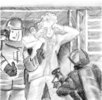"""""""Someone got maced in the face and Fire is responding."""" Josh Kramer, The Cartoon Picayune"""