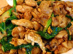 I had either the Pad See Ew with chicken from Krua Thai Restaurant in North Hollywood