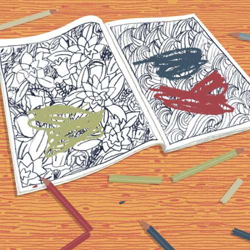 illustration of a colouring book