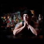 Fashion photographers glasgow bar tender in a hat