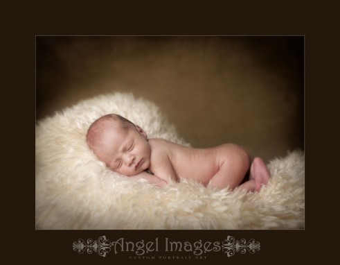 Glasgow baby photography newborn on sheepskin