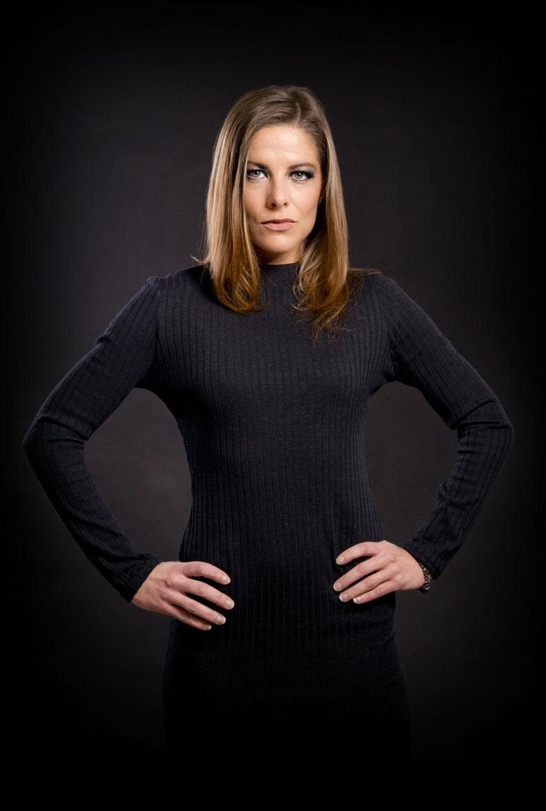 Woman in black glasgow