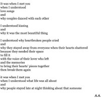 It was when I met you