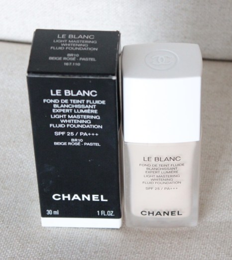 CHANEL LE BLANC LIGHT MASTERING WHITENING FOUNDATION BR10 (approx. 90% left, in box) - 50 USD