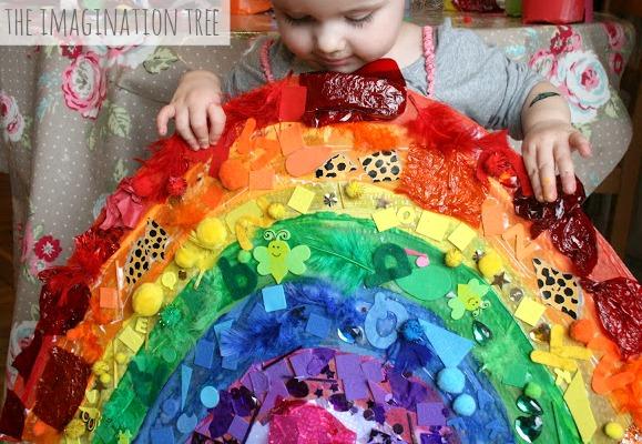 Rainbow collage activity