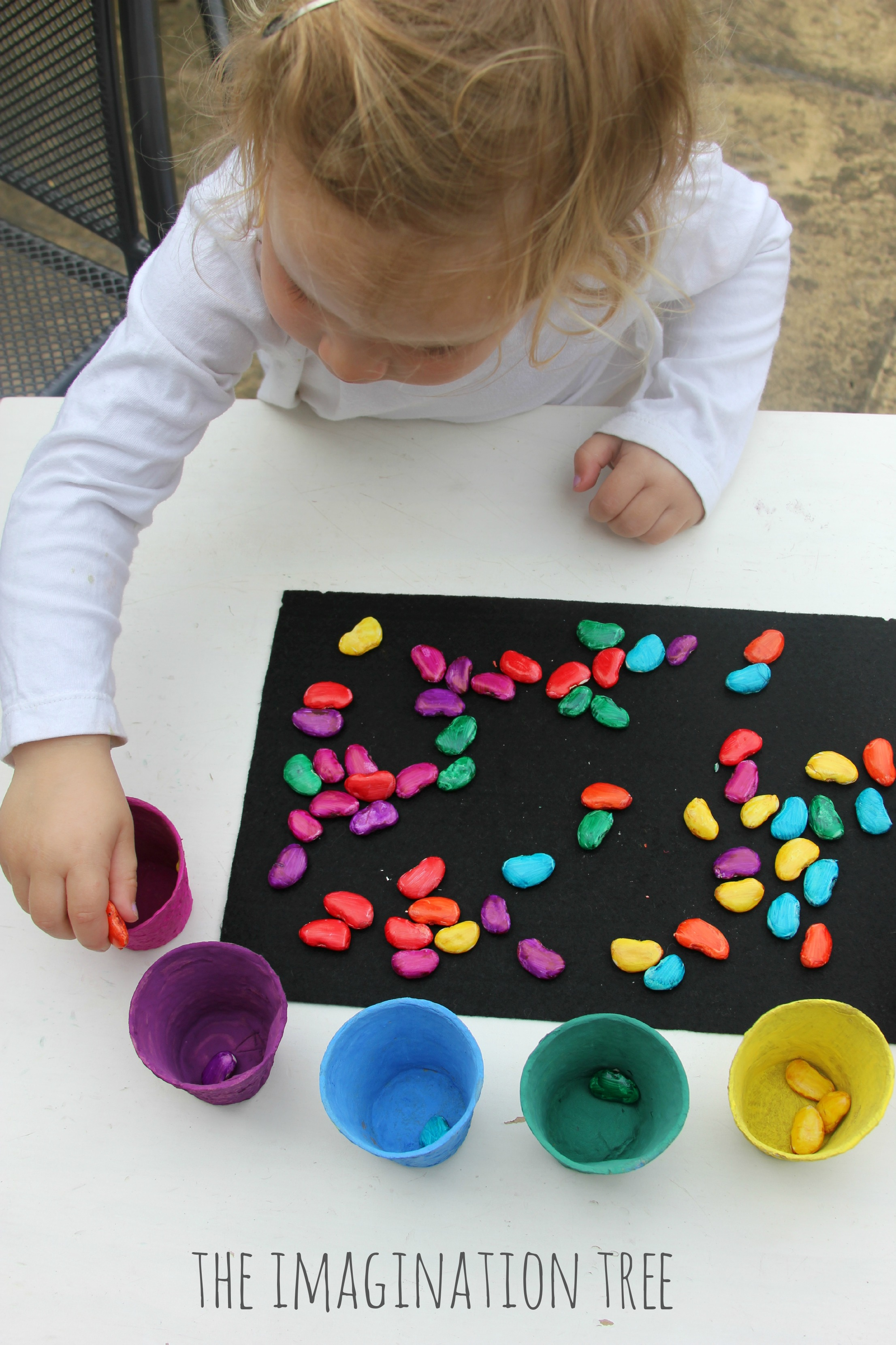 Magic Coloured Beans Sorting Activity