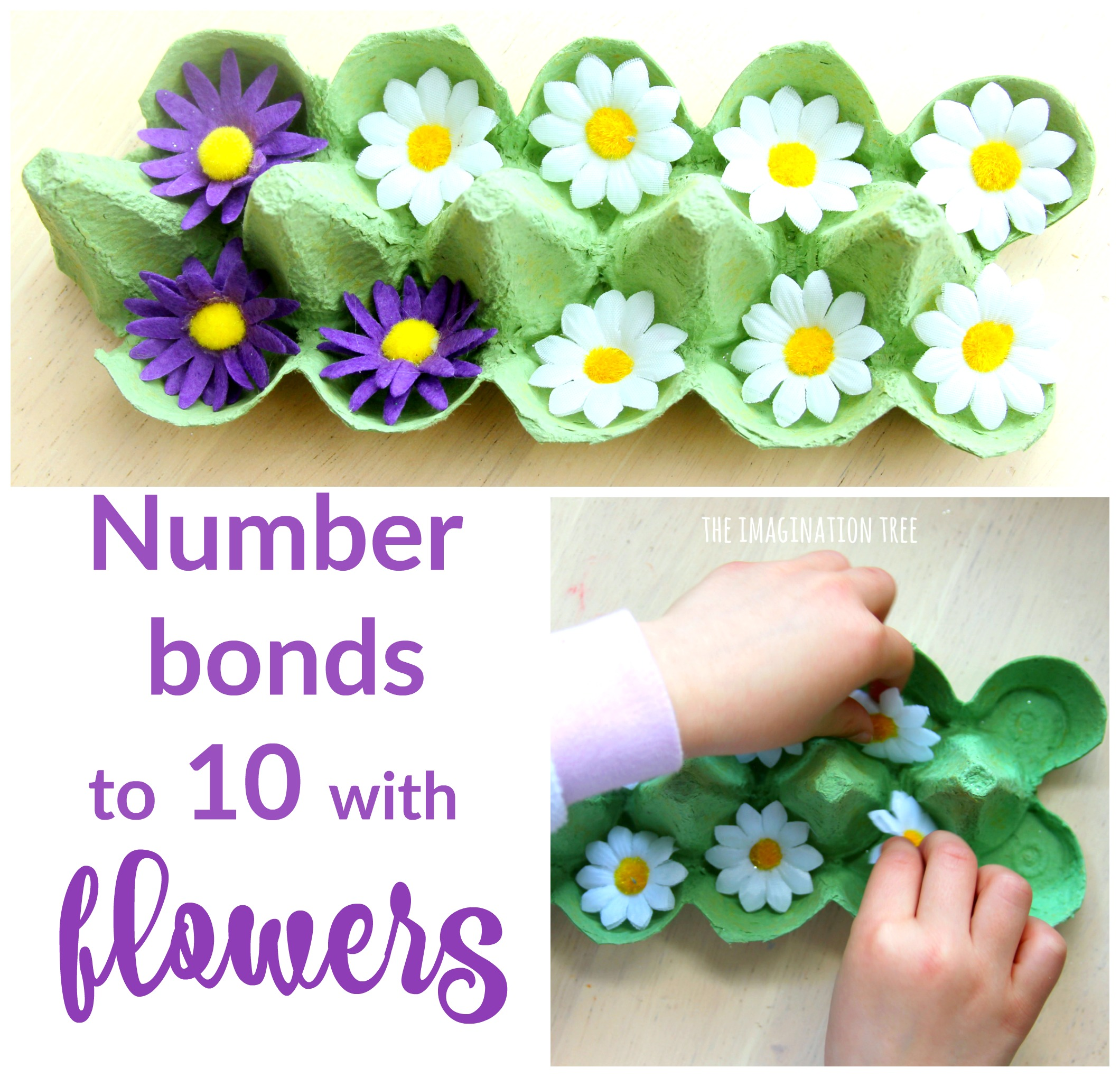 Number Bonds To 10 With Flowers