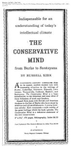 Review of The Conservative Mind, Russell Kirk