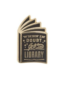 Out of Print Library Pin