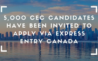 5,000 CEC Candidates Have Been Invited To Apply Via Express Entry Canada