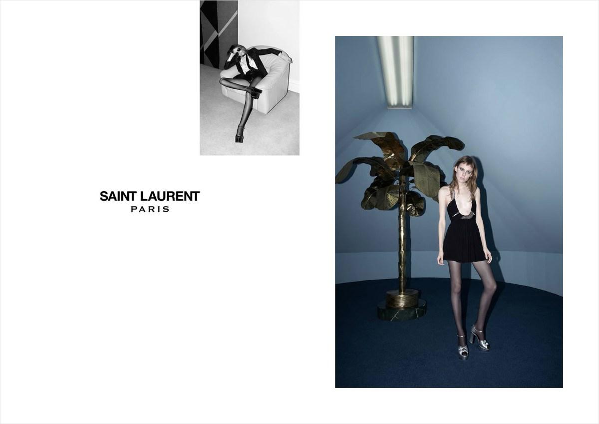 Saint Laurent Kiki Willems Spring 2015 ad banned photo