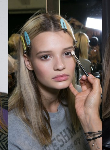 Versace Fashion Show Spring 2016 Backstage Beauty Photo