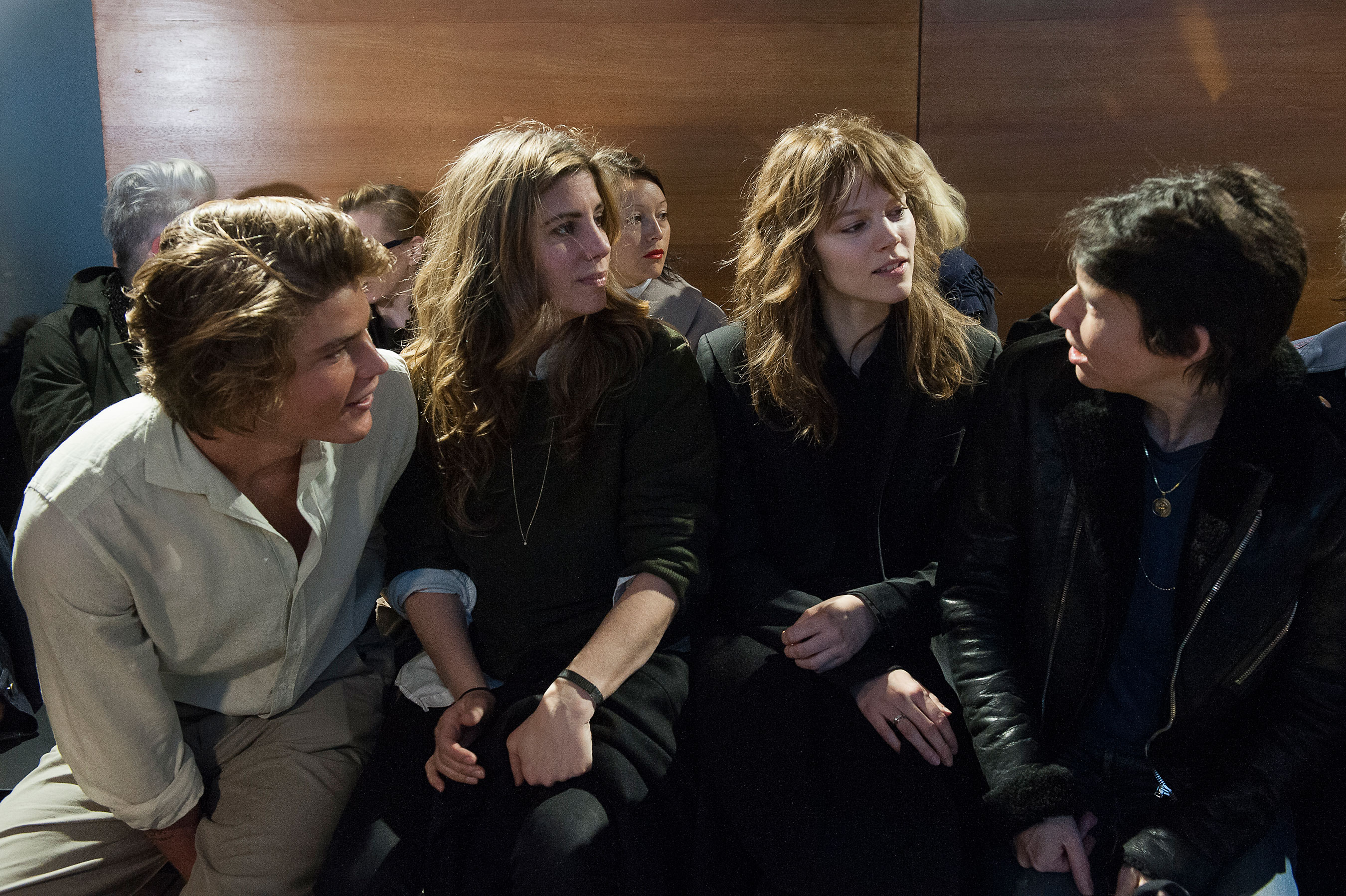 Jordan Barrett & Freja Beha Erichsen at Anthony Vaccarello