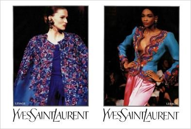 Yves Saint Laurent SS 1989