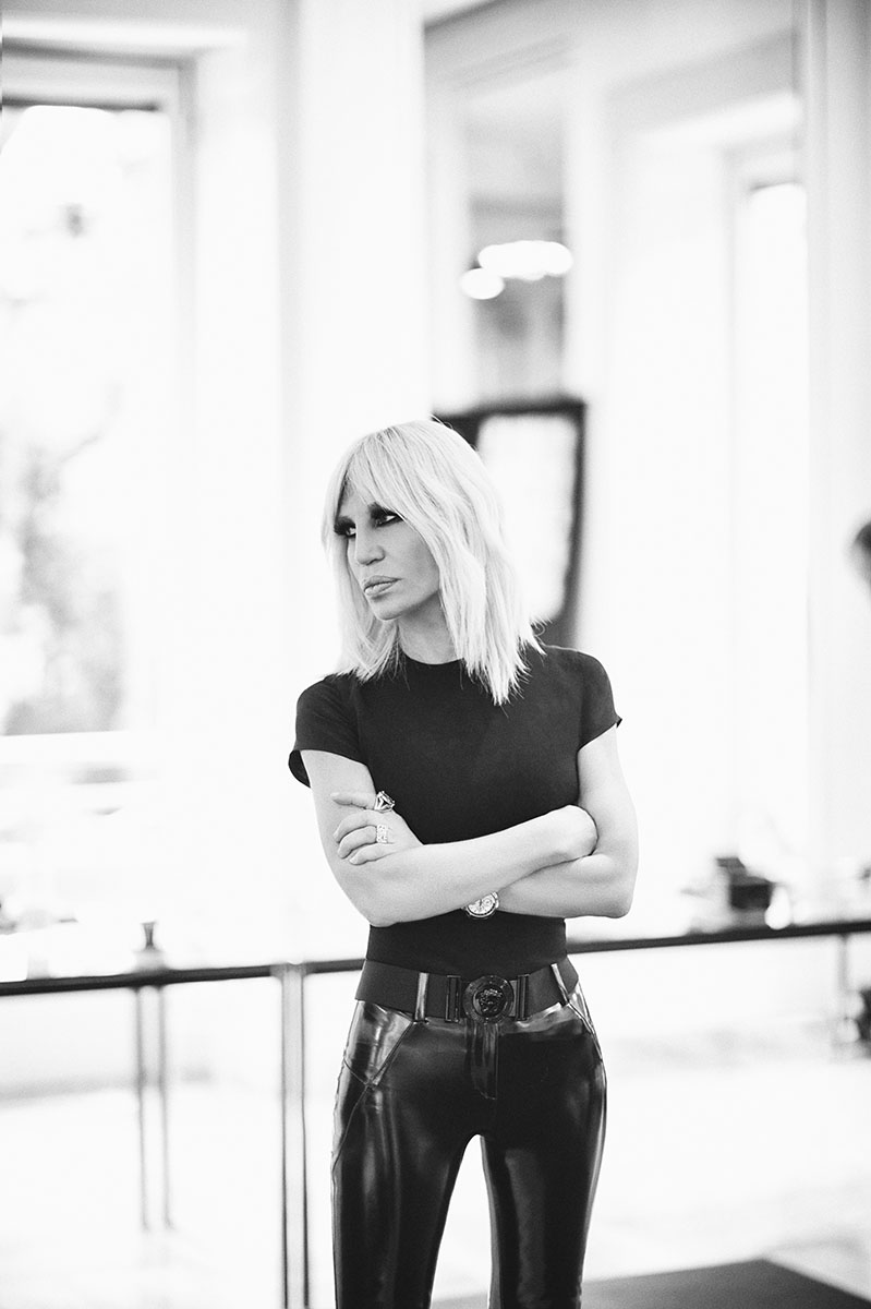 Donatella Versace, Spring 2016, photo Rahi Rezvani.