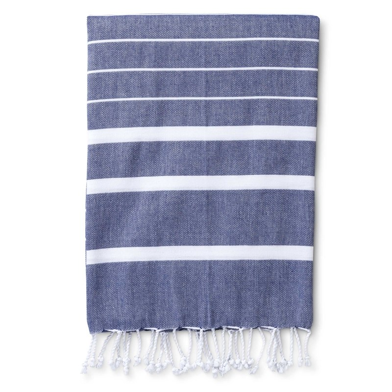 Accompany Us to Target Hammam Towel Made in Turkey, in Indigo