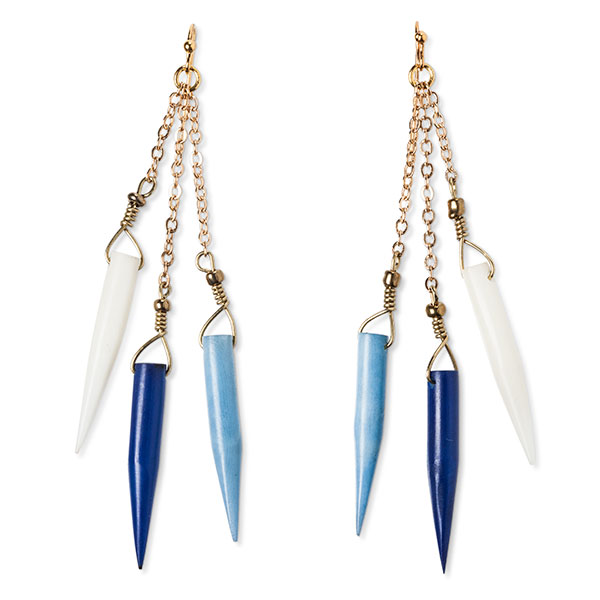Accompany Us to Target Tagua earrings, made in Ecuador