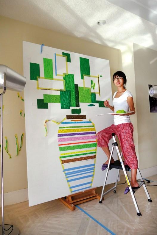 Zhenya painting Cactus