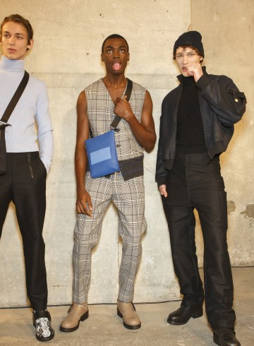 Dirk Bikkembergs Fall 2018 Men's Fashion Show Backstage