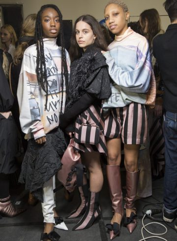Marques' Almeida Fall 2018 Fashion Show Backstage