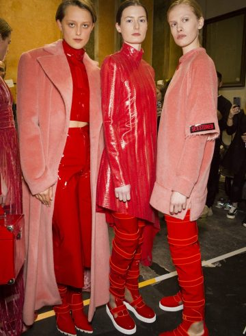 Cristiano Burani Fall 2018 Fashion Show Backstage