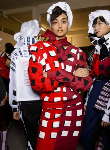 Fashion East Fall 2018 Fashion Show Backstage