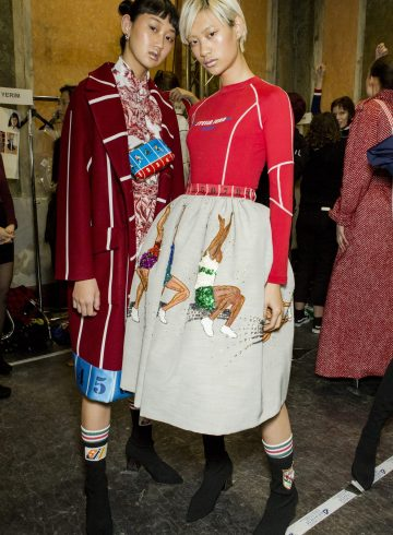 Stella Jean Fall 2018 Fashion Show Backstage