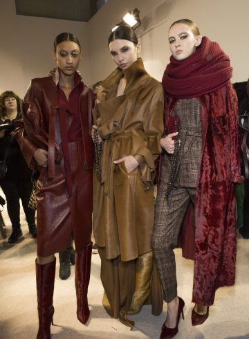 Akris Fall 2018 Fashion Show Backstage