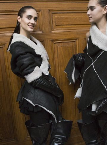 Ann Demeulemeester Fall 2018 Fashion Show Backstage
